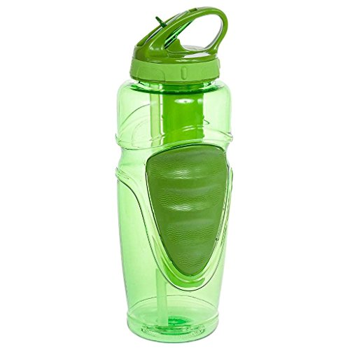 Cool Gear 32 Oz Ez-freeze Water Bottle - Solstice - BPA Free - PVC Free - Phthalates Free (Green)