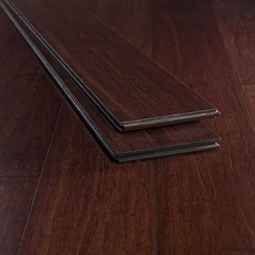 boo Flooring Sample, Color: Espresso, Solid Strand Tongue and Groove ()