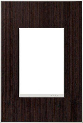 adorne 1-Gang 3-Module Wenge Wood Wall Plate (Wall Wenge Frame)