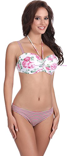 Feba Push Up Bikini conjunto para mujer Linda Patrón-413