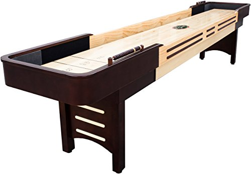 Playcraft Coventry Shuffleboard Table, Espresso, 12-Feet Solid Maple Futon