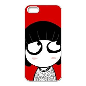 lovely girl red background personalized creative custom protective phone case for Iphone ipod touch4