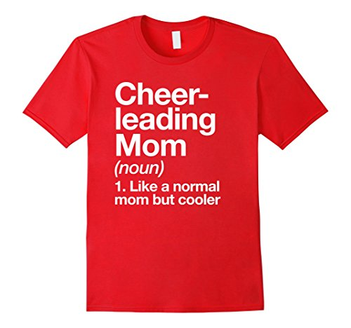 Mens Cheerleading Mom Definition T-shirt Funny & Sassy Sports Tee 2XL Red