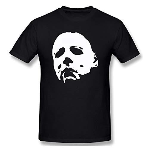 SlenTee Men Horror Movie Character Mike Myers Halloween Classic T-Shirt Black L -