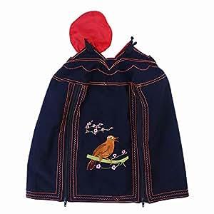 POPETPOP Funda para Jaula Pájaro Aves Transpirable Guardia Protector Falda de Jaula Pájaro 32 x 33cm Negro
