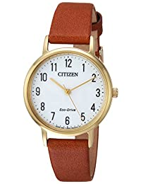 Citizen Women's EM0572-05A Eco-Drive Analog Display Japanese Quartz Brown Watch
