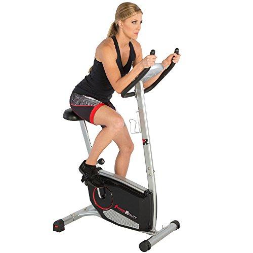 Exercise Bike Training Program: Fitness Reality Upright Exercise Bike With 21 Computer