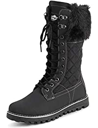Womens Winter Thermal Snow Outdoor Warm Mid Calf Waterproof Durable Boot