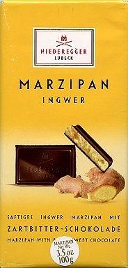 Niederegger Lubeck Ginger Marzipan Bar 100g (6-pack) by Niederegger