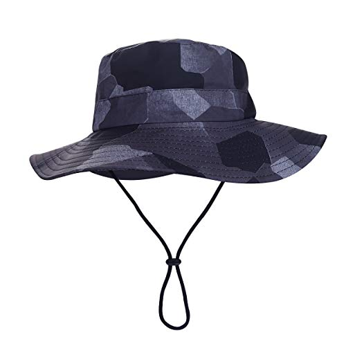 - MOMOCOY Outdoor Sun Hat, Waterproof Fishing Hat Sun Protection Summer Boonie for Man and Women Foldable Bucket Hat for Hiking (Camouflage A, Unisex)