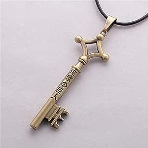 قلادة على شكل مفتاح بلون برونزي مطفي لشخصية إيرن  من إنمي هجوم العمالقة