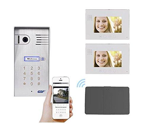 Indoor Intercom (GBF Smart Four Wire Door Phone/Doorbell with Two Indoor Monitors (Four Wire Intercom System))