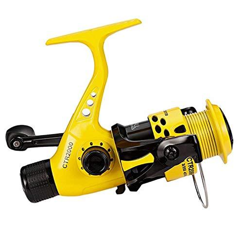 (Xiao-Jing 12Bb Fishing Reel 2000 7000 5.5:1 Foldable Arm Rocker Spinning Reel Lightweight Rear Drag Spool Fish Spinning Wheels,12,6000 Series)