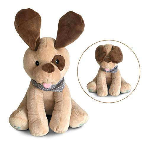Singing Puppy Dog - Plush Peek-A-Boo Puppy Dog Toy for Toddlers, Babies, Infants  -  Singing Interactive Stuffed Animals for Boys, Girls  -  Soft Musical Toys for Kids  -  Sings, Plays Games  -  Adorable
