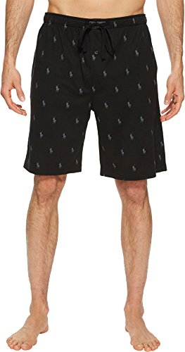 Ralph Lauren Mens Pajamas - Polo Ralph Lauren Knit Sleep Shorts, L, Polo Black