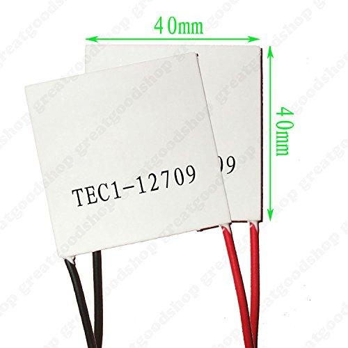 LIPOVOLT 2PCS USA TEC1-12709 Thermoelectric Cooler Heatsink Peltier Module 40mm 12V 9A by Lipovolt