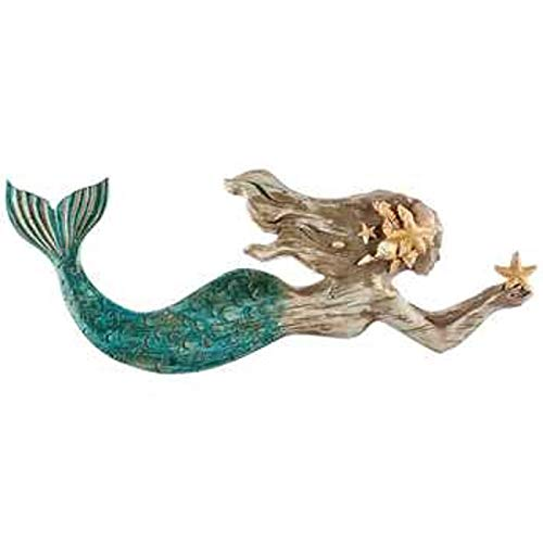 (Swimming Mermaid Resin Wall Decor)