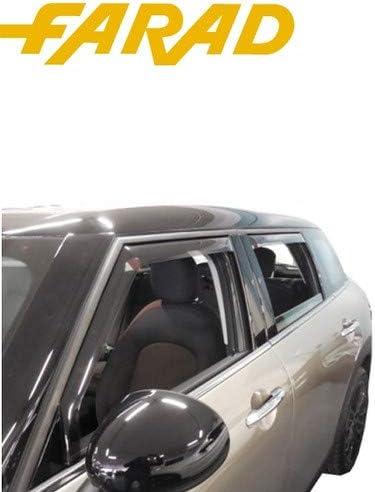 Generico Set DEFLETTORI Antivento Auto Compatibile con KIA Rio 5P 2017  PARAVENTO Anti Vento Acqua Turbo Fume G3