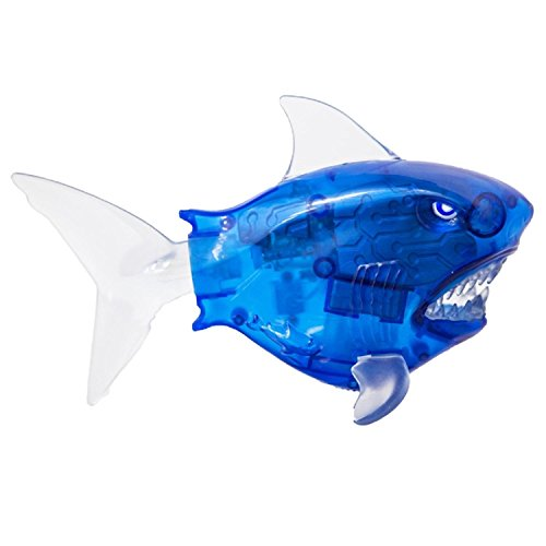 "9"" Blue and Clear Battery Operated Battle Reef Shark Swim..."