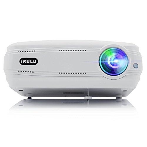 iRULU P5 HD Video Projector Support 1080P USB VGA HDMI AV 1280x768 Resolution for Multimedia Home Cinema Theater(white)