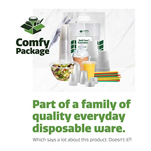[300 Pack] Heavyweight Clear Plastic Forks by Comfy Package (Image #4)
