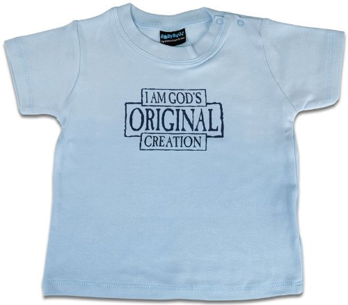Christliche Geschenkideen °° Baby-Shirt Hellblau God's Original Creation