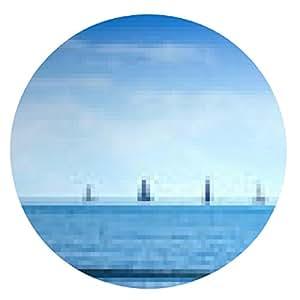 alfombrilla de ratón Barco de vela regata regata en el mar o el agua del océano - ronda - 20cm