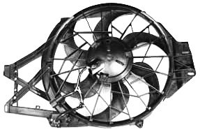 (TYC 620650 Ford Mustang Replacement Radiator/Condenser Cooling Fan)