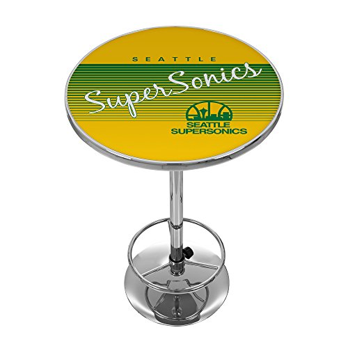 NBA Seattle SuperSonics Chrome Pub Table, One Size, Chrome by Trademark Global