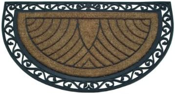 Abbott Collection Coir Rubber Semicircle Doormat Jumbo