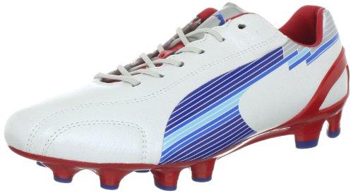 Puma EvoSpeed 1 K FG 102525 - Zapatillas de fútbol para hombre blanco - Weiss (white-limoges-ribbon red 01)