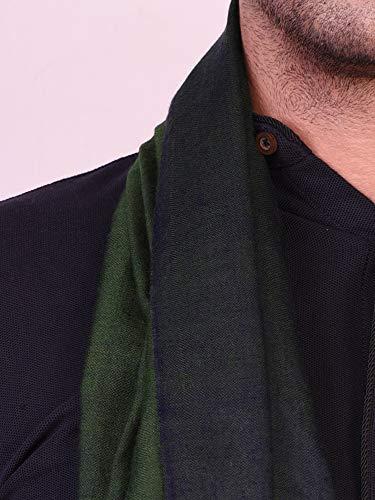 100 Cachemire Verde Da Uomo Sciarpa Handspun Donna Fatto A Scialle Mano Kashfab Blu dxwnEd