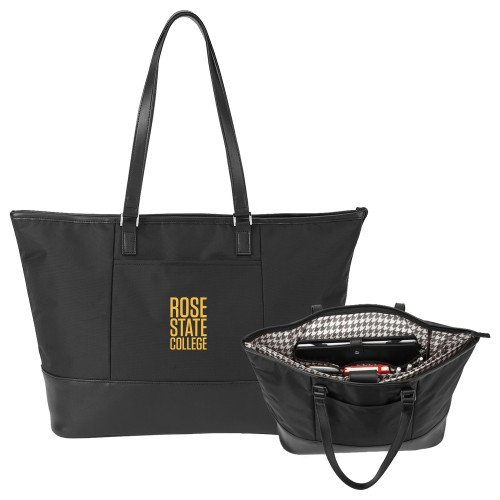 Rose State Stella Black Computer Tote 'Primary Mark' by CollegeFanGear