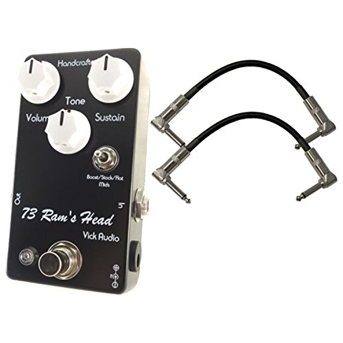 Vick Audio 73 Ram's Head Fuzz Pedal w/ 2 Cables ()