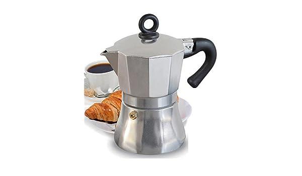 Borella Casalighi Kelly Cafetera de 3 Tazas, Aluminio, Gris: Amazon.es: Hogar