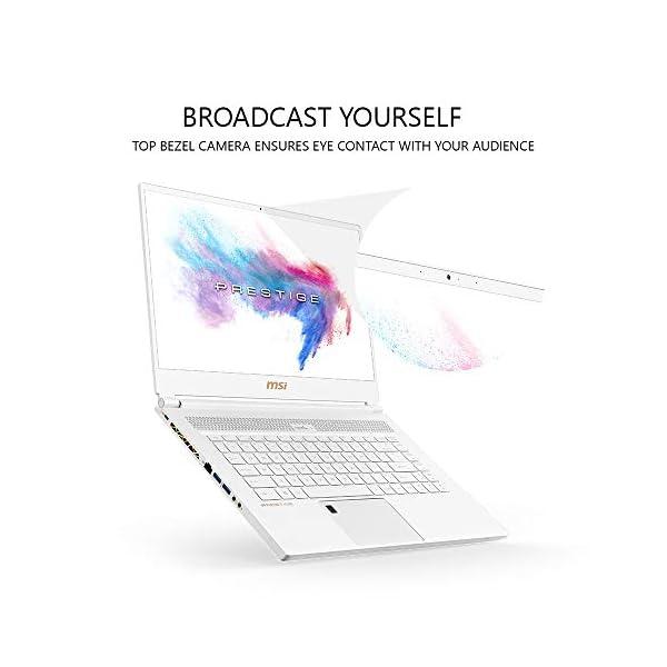 """MSI GS65 Stealth-002 15.6"""" Razor Thin Bezel Gaming Laptop NVIDIA RTX 2070 8G Max-Q, 144Hz 7ms, Intel i7-8750H (6 cores), 32GB, 512GB NVMe SSD, TB3, Per Key RGB, Win 10, Matte Black w/ Gold Diamond cut 5"""