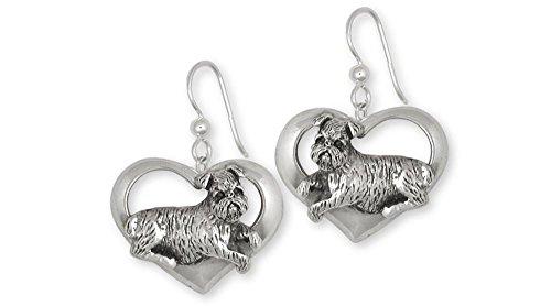 Brussels Griffon Jewelry Sterling Silver Brussels Griffon Earrings Handmade Dog Jewelry GR37-E