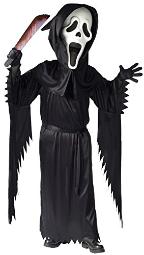 [Child Bobble Head Ghost Face Costume - Large] (Bobble Head Halloween Costume)
