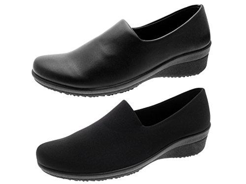 Flexi Heels On Black Low Slip Lora Womens Lycra Dora R4wnZqwSO
