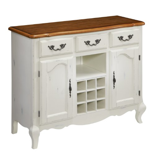 Home Styles 5518-61 The French Countryside Buffet, Oak/Rubbed White (French Country Kitchen Cabinets compare prices)