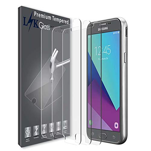 LK [3 Pack] Screen Protector for Samsung Galaxy J7 V / J7V (Verizon) / J7 2017 / Galaxy J7 Perx/Galaxy J7 Sky Pro/Galaxy J7 Prime/Galaxy Halo, [Tempered Glass] with Lifetime Replacement Warranty