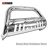 2011 nissan frontier grill guard - HS Power Chrome HD Heavy Duty Stainless Steel Bull Bar for Nissan Frontier Pathfinder Xterra 2005-2014 Brush Push Front Bumper Grill Grille Guard