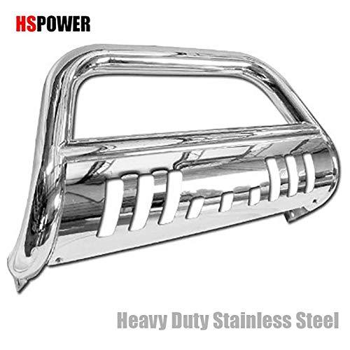 HS Power Chrome SS Bull BAR Brush Push Bumper Grill Grille Guard V2 97-04 ()
