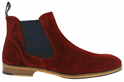 Lambretta Mens Moorgate Lace Up Leather Durable Chelsea Ankle Boots burdeos