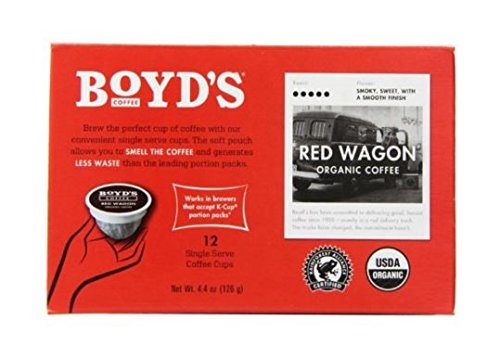 Boyd's Organic Red Wagon Coffee - Dark Roast - Single Cup (72 Count) from Boyds Coffee
