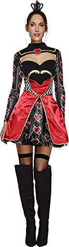 Ladies Sexy Queen of Hearts Alice in Wonderland Book Day Week Hen Do Party Halloween Carnival Fancy Dress Costume Outfit UK 8-16 (UK 16-18) -