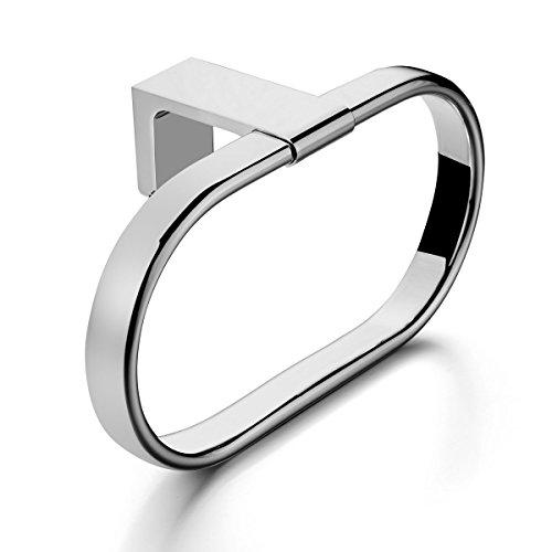 MAYKKE Dash Towel Ring for Bathroom or Kitchen, Polished Chrome DLA1030101 delicate