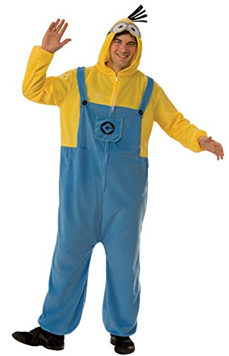 Rubie's Costume Co. Men's Despicable Me 3 Minion Adult Costume Onesie, As Shown, (Halloween Costumes For 3 Adults)
