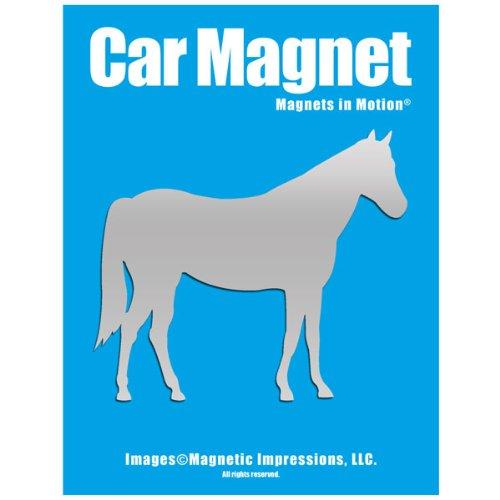 Horse Car Magnet Chrome