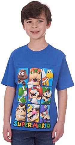 Nintendo Little Boys Super Mario Characters T Shirt Blue 5 6 Amazon Com Au Fashion